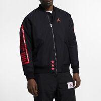 Nike Air Jordan Mens Sportswear Retro 1 Bomber Jacket Black/Infrared BQ6958 010
