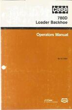 Case 780D Loader/Backhoe Operator's Manual