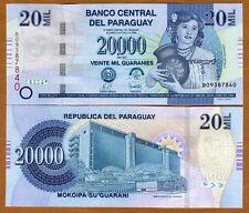Paraguay, 20,000 (20000) Guaranies 2007, P-230a, Serie B UNC
