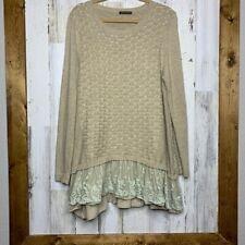 John Fashion Tunic Sweater Dress ruffled large