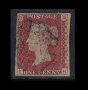 GB stamps - 1841 - 1d penny red sg8 black MC - IH - nice margins - good used