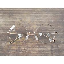 Nerd Brille filigran rund Glasses Klarglas Hornbrille treber 43R90 Gold