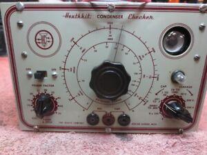 Restored Heathkit Condenser Checker