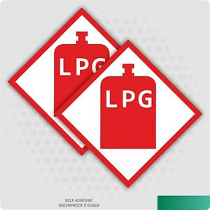 2 x LPG Warning Sticker  Stickers, Caravan, Motorhome, Campervan Vehicle Van