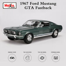 Maisto 1:18 1967 Ford Mustang GTA Fastback Green Diecast Metal Model Car Toy New