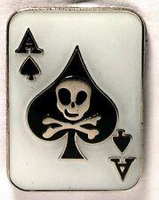 Metal Enamel Pin Badge Brooch Ace of Spades Cards Gamble Poker Player