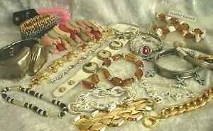 50 x Armschmuck MIX Strass silber gold Armbänder Armreifen Schmuck Paket NEU