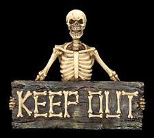 Letrero para puerta Esqueleto - Mantener fuera - Letrero Calavera Fun Fantasy