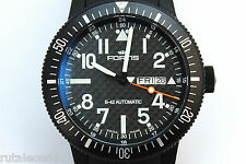 FORTIS B-42 BLACK DAY/DATE automatic 647.28.158  New Old Stock