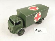 NICE DINKY TOYS # 626 FORDSON MILITARY ARMY AMBULANCE ORIGINAL DIECAST 1956