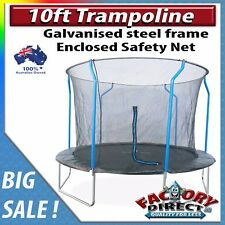 NEW! 10ft Trampoline with Enclosure Safety Net Kids Fun Galvanized Steel Frame!
