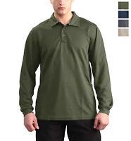 Men's Casual Polo Shirt Outdoor Hiking Camping Tactical Long Sleeve Train Shirt