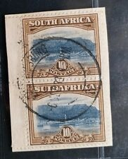 SOUTH AFRICA 1927 10s SG 39 Sc 32 Cape Town and Table Bay VFU on piece