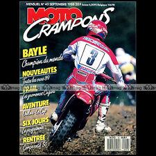 MOTO CRAMPONS N°43 HONDA 50 MTX YAMAHA DTR CAGIVA 500 T4 E R CAGIVA 250 WMX 1988