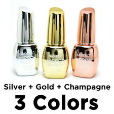 Santee Mirror Effect Nail Polish - Gold, Silver, Champagne (3 Colors in 1 Pack)