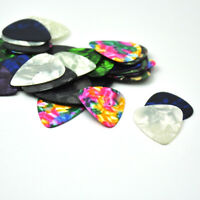Lots of 100 pcs 0.96mm Heavy Celluloid guitar picks Plectrums Blank Mixed Colors