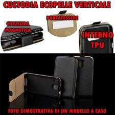 Custodia in Ecopelle verticale Flip con cover TPU per LG G3 (D855) Colore Nero