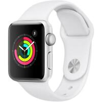 Apple Watch Series 2 - 38mm - Silver Aluminum Case, White Sport Band -Smartwatch