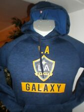 NEW Los Angeles Galaxy ADIDAS CLIMAWARM L/S PERFORMANCE HOODED SWEATSHIRT SZ:S