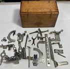 Antique Solid Oak 1889 Accessory Puzzle Box Singer Sewing Machine Attahments