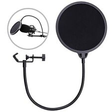 Double Layer Studio Microphone Mic Wind Screen Mask Gooseneck Shield Pop Filter