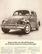 VW WIFE AD    Retro Metal Plaque/Sign, Pub, Bar, Man Cave,