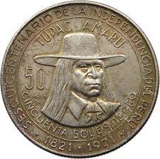 PERU 50 SOLES 1971 TOP #t89 357