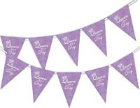 Happy Mothers Day Bunting Banner - Queen for a Day - 15 flags by PARTY DECOR