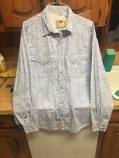 LARRY MAHAN Mens 3XL Cowboy Western Pearl Snap Long Sleeve Paisley Shirt