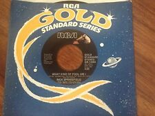 Rick Springfield - What Kind Of Fool Am I - Don't Talk To Strang  unplayed 45rpm