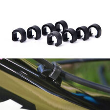 30pcs Black  Bicycle MTB C-Clips Buckle Hose Brake Gear Cable Housing Guide HGUK