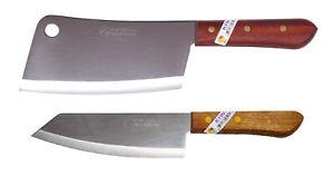 2 x Kiwi thai Küchenmesser Kochmesser Hackmesser Hackbeil # 840 171 Messer Set