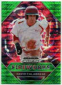 2020 Panini Draft Picks Fireworks Prizms Green Pulsar #PDP183 David Calabrese