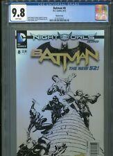 Batman #8  New 52  (Sketch cover)   CGC 9.8  WP