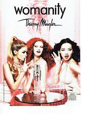 Publicité Advertising 107   2011  parfum femme Womanity par Thierry Mugler