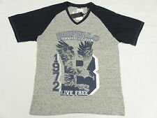 $39 NWT NEW Mens Buffalo David Bitton T-Shirt NEMBRY Raglan V-Neck Tee Sz M N036