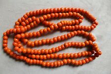 Indian Glass Beads String 90-100g New Bead Necklace Jewellery Free Post Orange