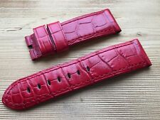 OFFICINE PANERAI OEM 24mm RED CROC FOR TANG RARE EARLY STRAP