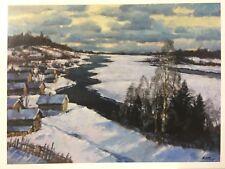 Post Card. The beginning of spring. First thawed. 1973. Artist - Mark KREMER