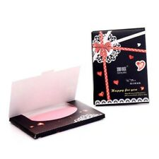 100 pcs Oil Absorbing Blotting Linen Paper Tissue 50 Sheets Per pack