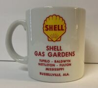 Vintage Shell Gas Garden & Oil Advertising Coffee Mug Alabama Tupelo Mississippi