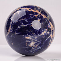 738g 85mm Large Natural Blue Sodalite Quartz Crystal Sphere Healing Ball Chakra