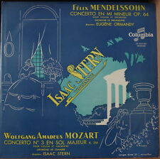 EUGENE ORMANDY/ISAAC STERN PLAYS MENDELSSOHN/MOZART VIOLIN FRENCH LP