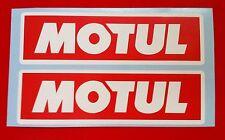 MOTUL Adesivo 4 x 200 mm Adesivi Decalcomanie Racing Auto Moto Rally Sponsor RW