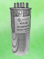 DUAL RUN CAPACITOR 45+5 MFD uF 440V ROUND CAN - Replaces the 45+5 uF 370V
