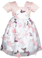 2-in-1 Flower Girls Dress Dimensional Butterfly Pageant Party Age 12M-5 Years
