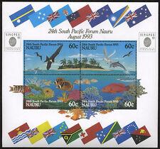 Nauru 24th South Pacific Forum 1993 Souvenir Sheet w/ SINGPEX 93 OP Scott# 405b