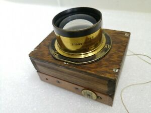 W Watson & Sons 7in Holos Wide Angle brass Lens Focal Plane Shutter Vintage #293
