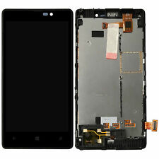 For Nokia Lumia 820 New Black LCD Display Touch Screen Digitizer Assembly Frame