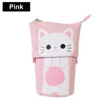 Cute Cat Canvas Pen Pencil Cases Kawaii Stationery Pouch Pen Bag